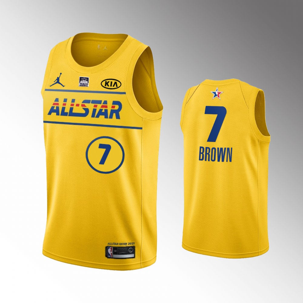 Boston Celtics Jaylen Brown 2021 NBA All-Star Game x HBCU Collection Jersey Western Conference Gold